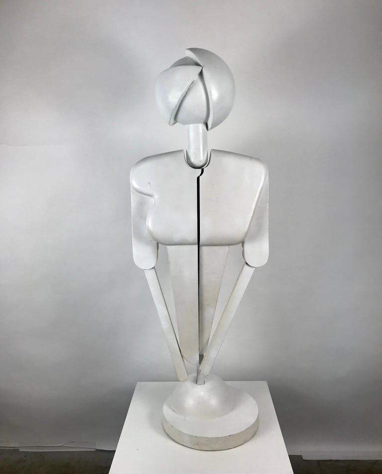 Unusual Bauhaus Style Cubist Articulated Mannequin after Oskar Schlemmer In Good Condition For Sale In Buffalo, NY