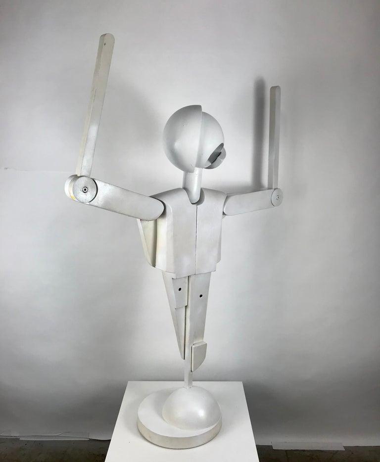 Unusual Bauhaus Style Cubist Articulated Mannequin after Oskar Schlemmer For Sale 4