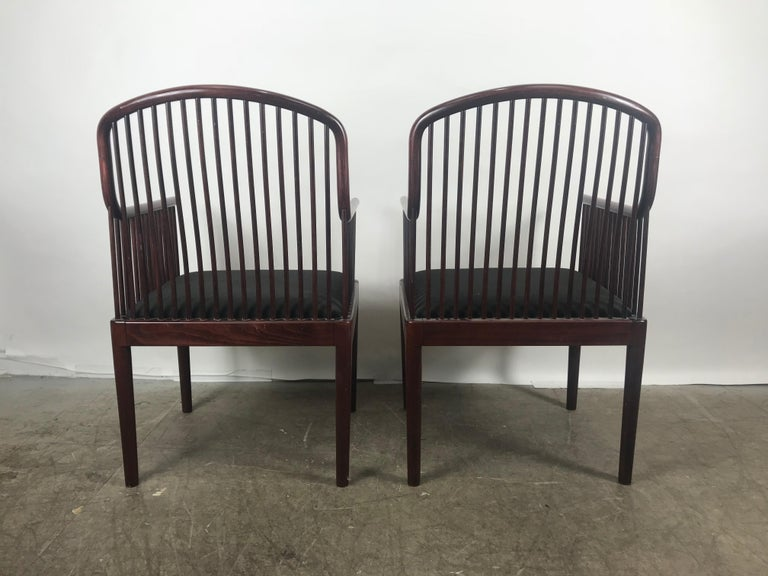 Pair Davis Allen Andover Armchairs for Stendig of Italy In Good Condition For Sale In Buffalo, NY