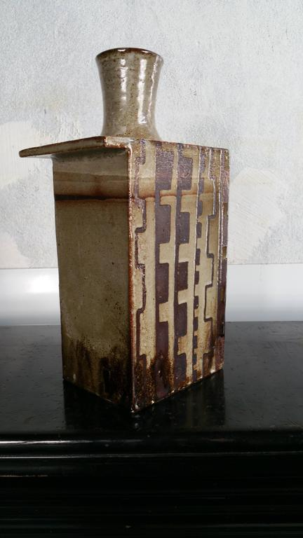Modernist Architectural Slab Pottery Vessel For Sale At