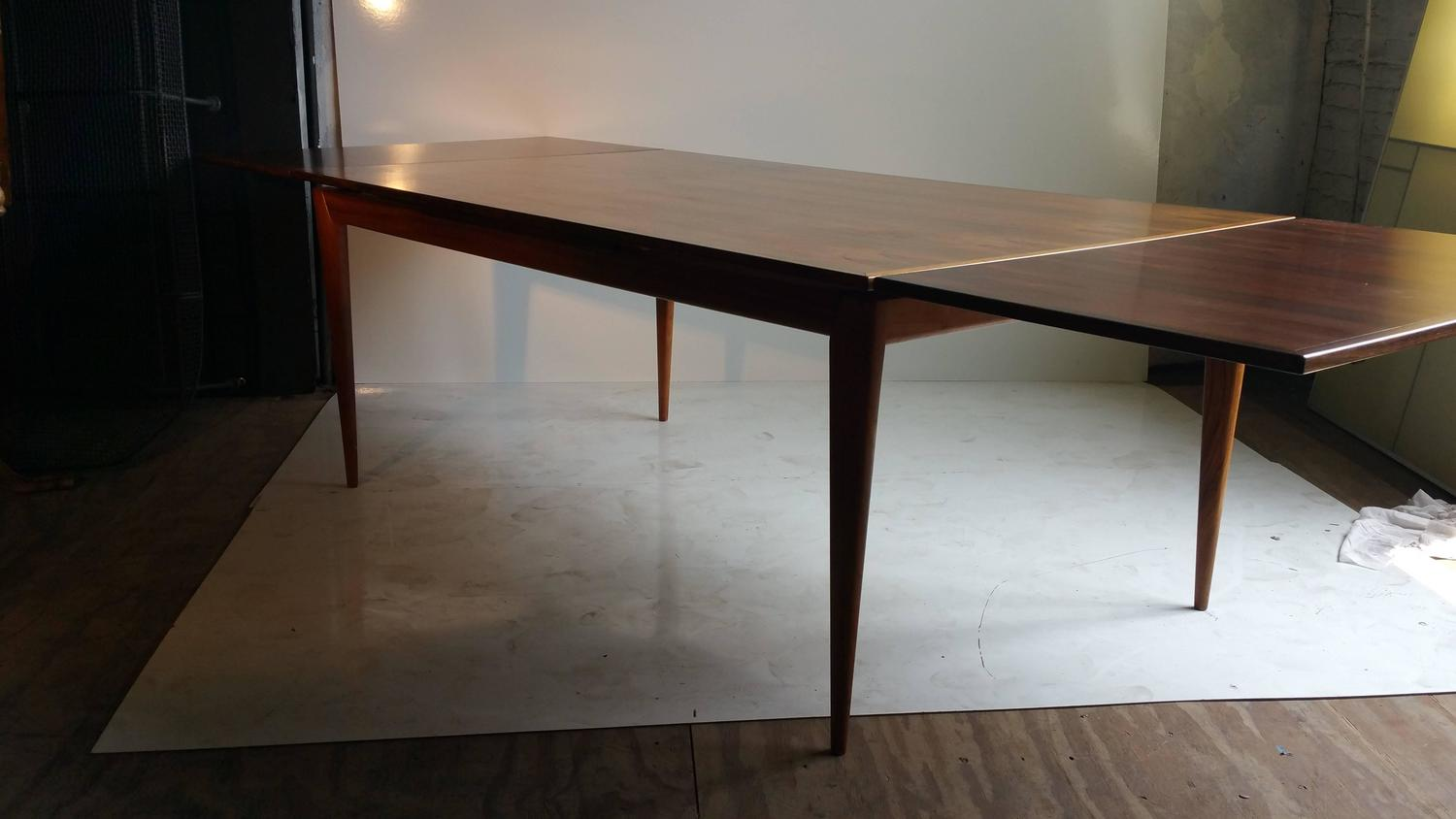 Niels Otto Møller Danish Expandable Rosewood Dining Table at 1stdibs
