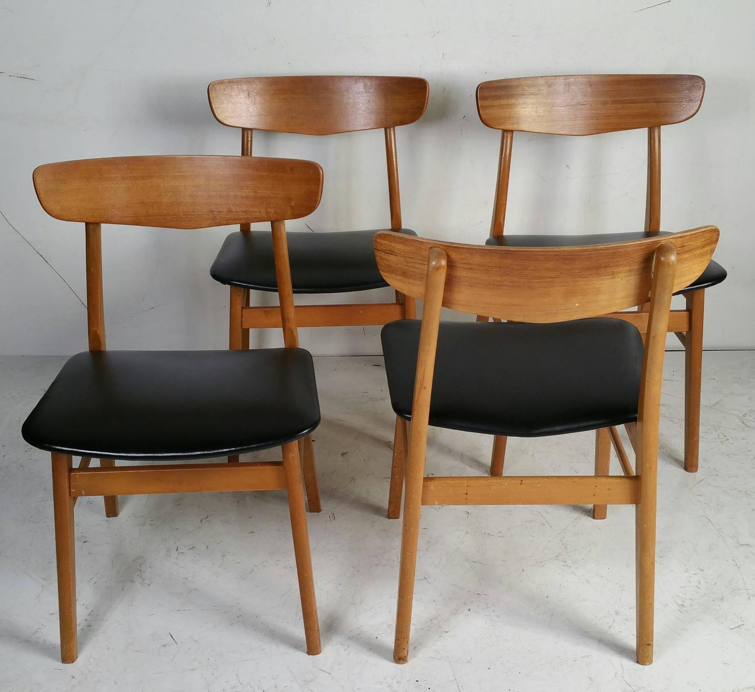 set of four danish modern dining chairs at 1stdibs