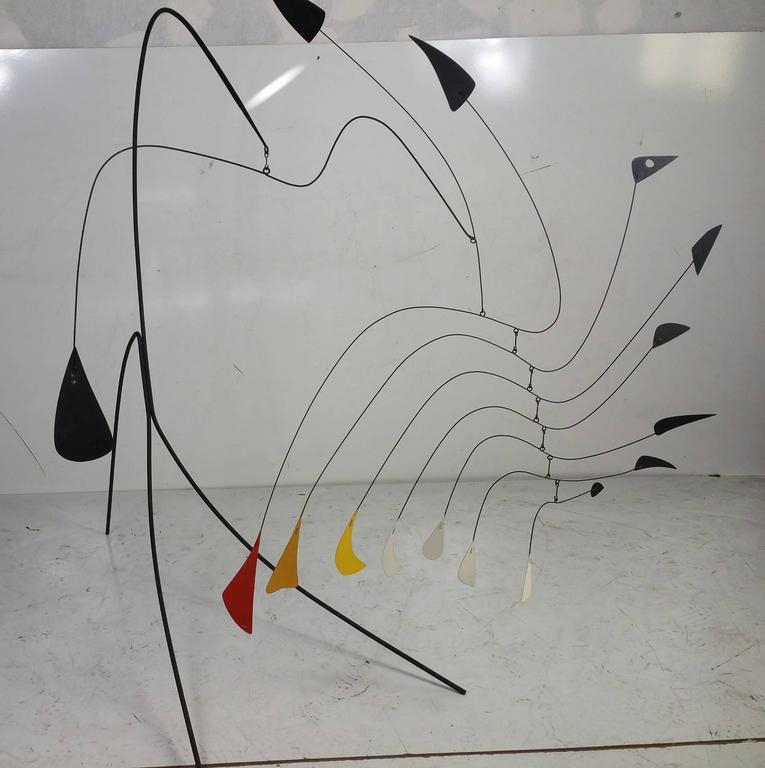 Rare Modernist Standing Mobile Manner Of Alexander Calder