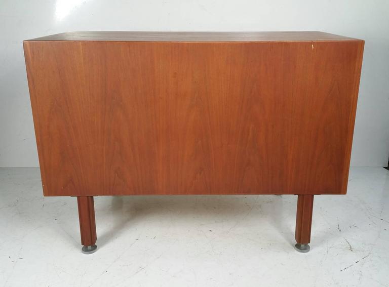 American Jens Risom Walnut Credenza, Mid-Century Modern For Sale