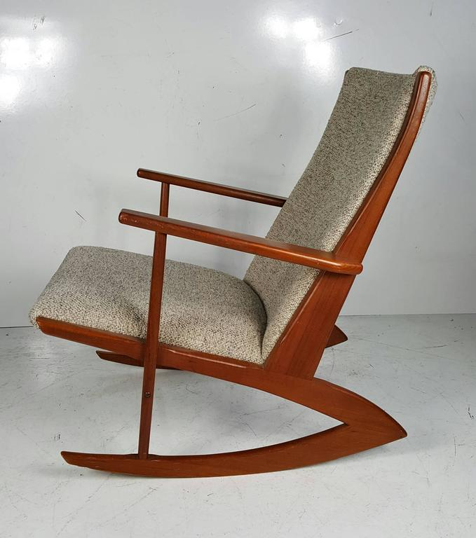 Danish teak rocking chair designer by for Kubis Denmark, 1958 ...