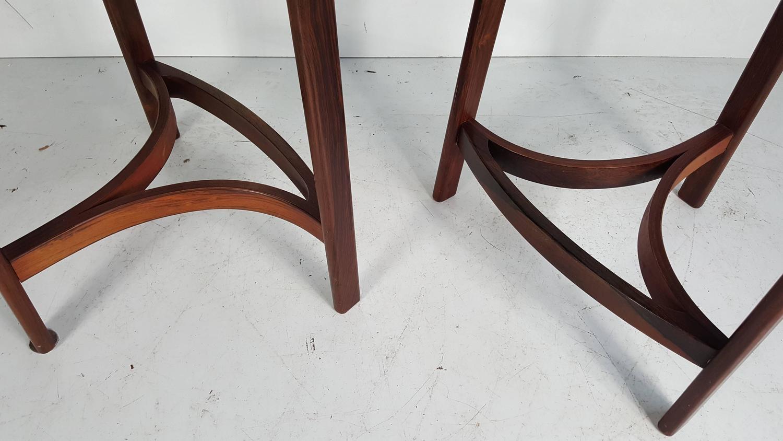 Pair Of Danish Modern Rosewood Stools By Erik Buck At 1stdibs