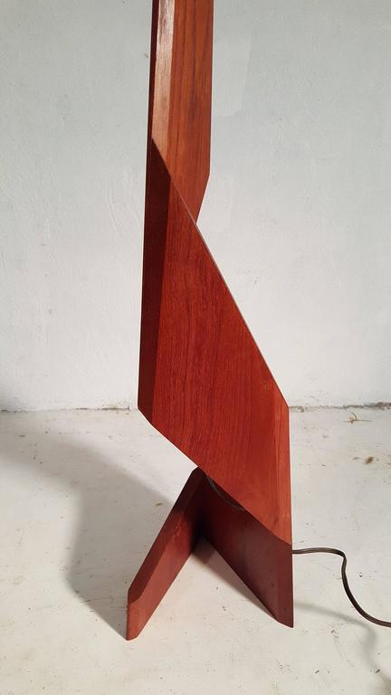 Rare Danish Modern Quot Zig Zag Quot Sculptural Teak Floor Lamp At