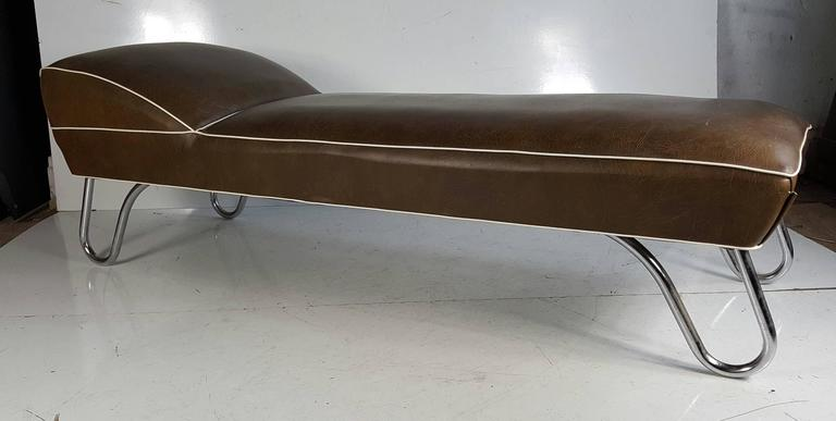 Kem weber daybed or chaise longue art deco for sale at 1stdibs for Art deco style chaise lounge