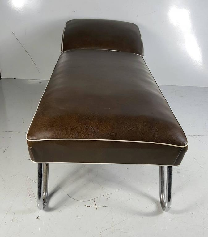 Kem weber daybed or chaise longue art deco for sale at for Art deco chaise lounge