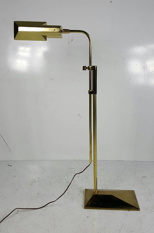 Frederick Cooper Adjustable Brass Floor Lamp Pharmacy