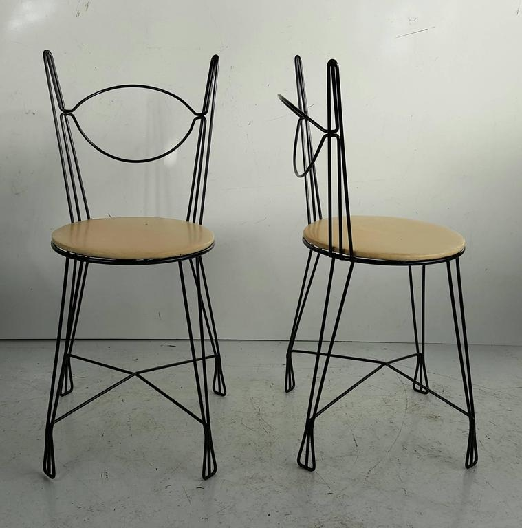 Two Tony Paul For Raymor Ice Cream Parlor Group Chairs For Sale At 1stdibs