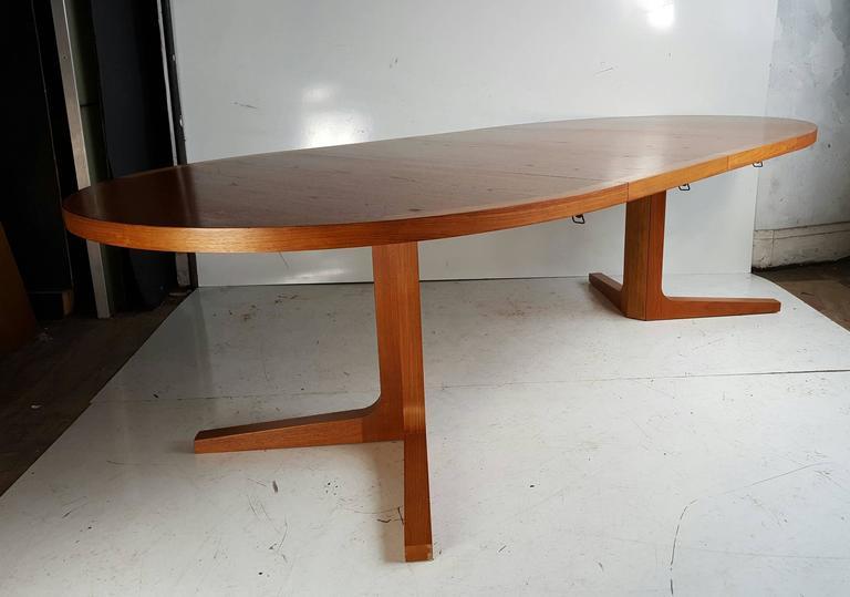 Danish Modern Expandable Teak Trestle Table, G Plan, Denmark 2