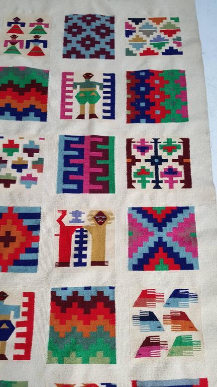 Modernist Tunisian Rug Or Wall Hanging Kilim Gafsa For