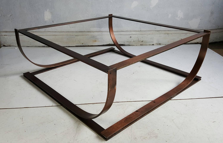 Modernist Bauhaus Bronzed Steel Cocktail Table Manner Of Donald Deskey At 1stdibs