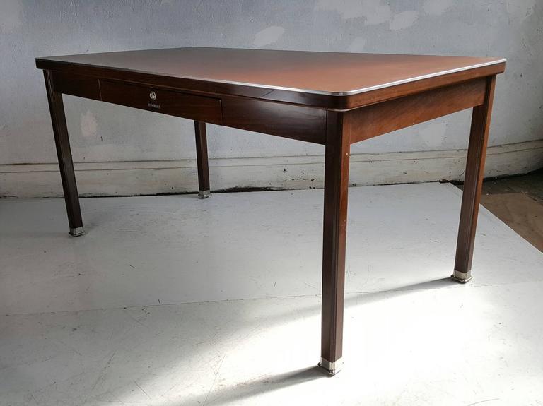 Classic Modernist Shaw Walker Steel Desk Writing Table