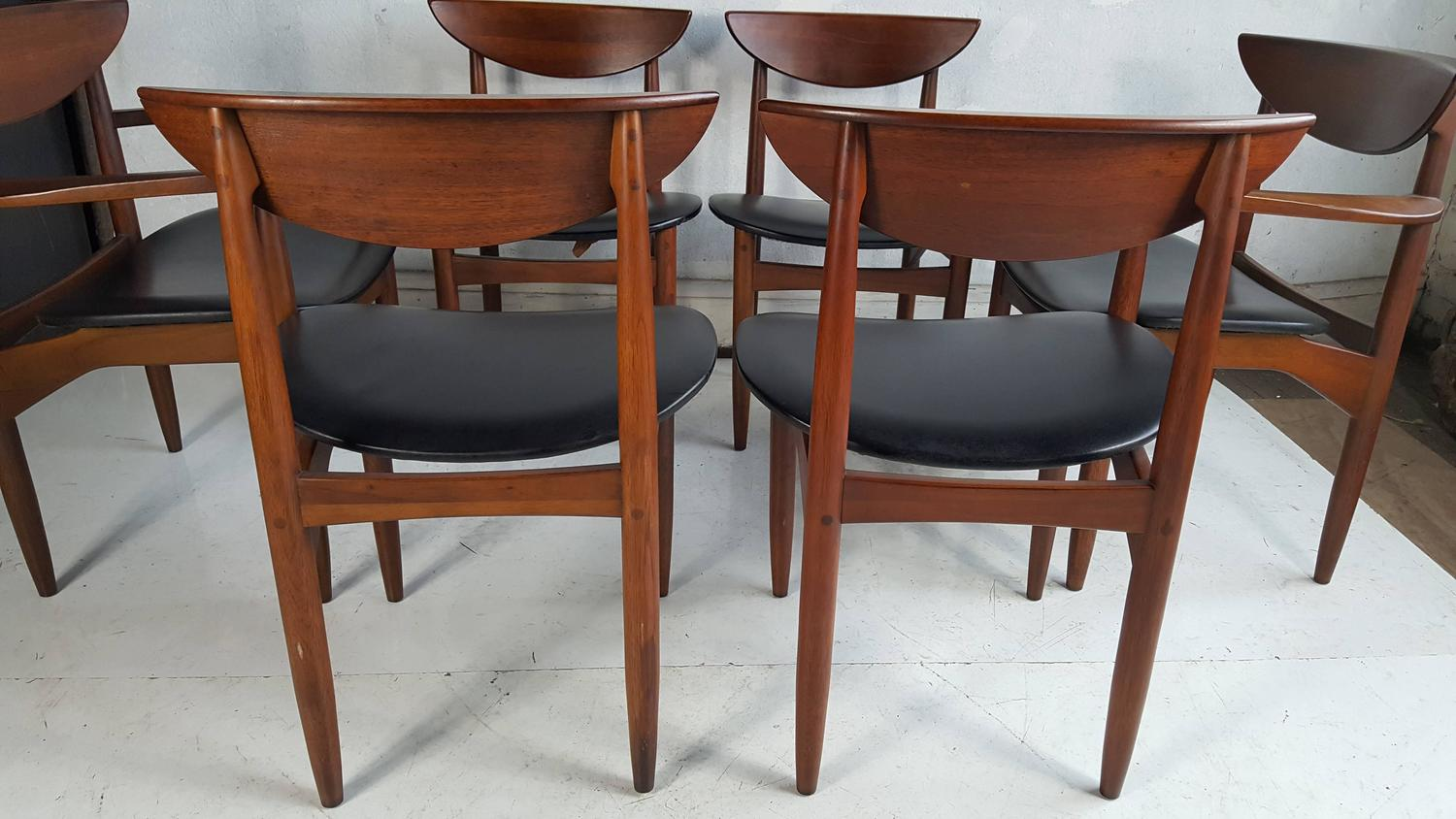 Set of six modernist dining chairs lane perception at 1stdibs - Dining room furniture buffalo ny ...