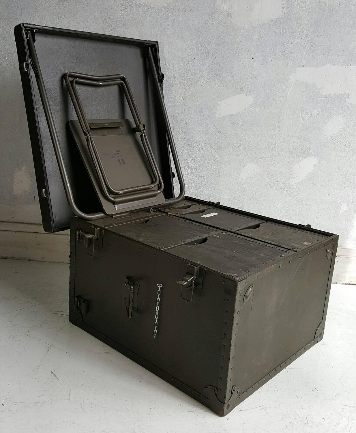 Industrial Portable Storage : Industrial army issue portable desk at stdibs
