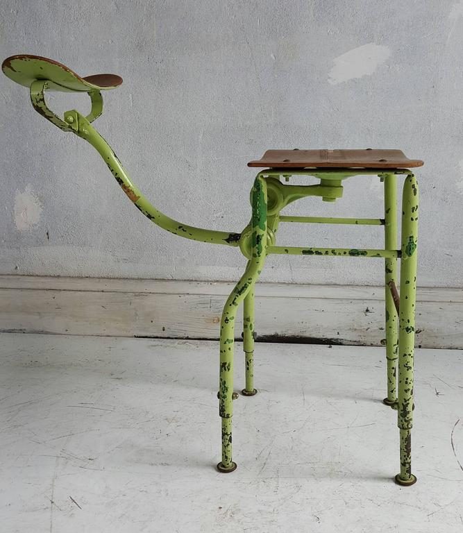 American Sculptural Industrial Medical /Drafting Stool For Sale