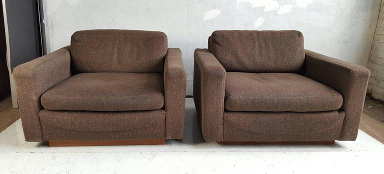 Delicieux Pair Of Milo Baughman For Thayer Coggin Cube Lounge Chairs