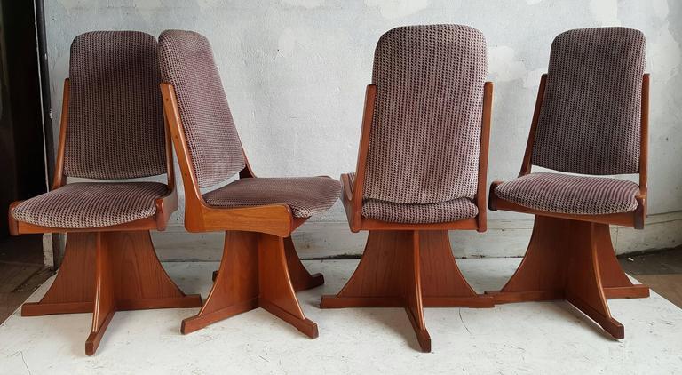 Architectural Crafts Swivel Chairs Unusual Design Teak