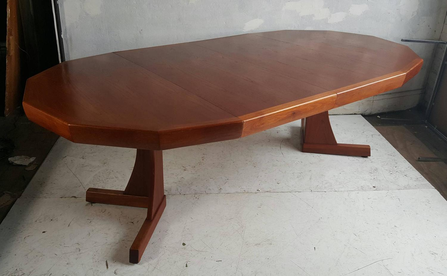 Unusual Modernist Crafts Teak Expandable Dining Table