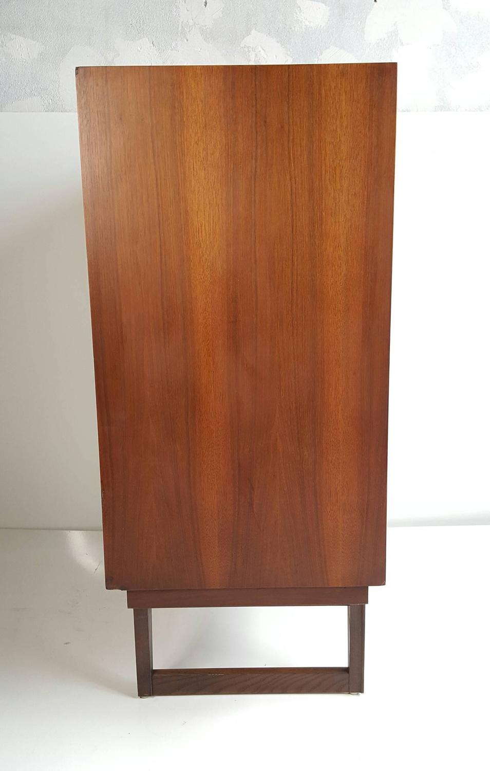 Modernist Five Drawer Chest By Stanley Spade Shaped Hand