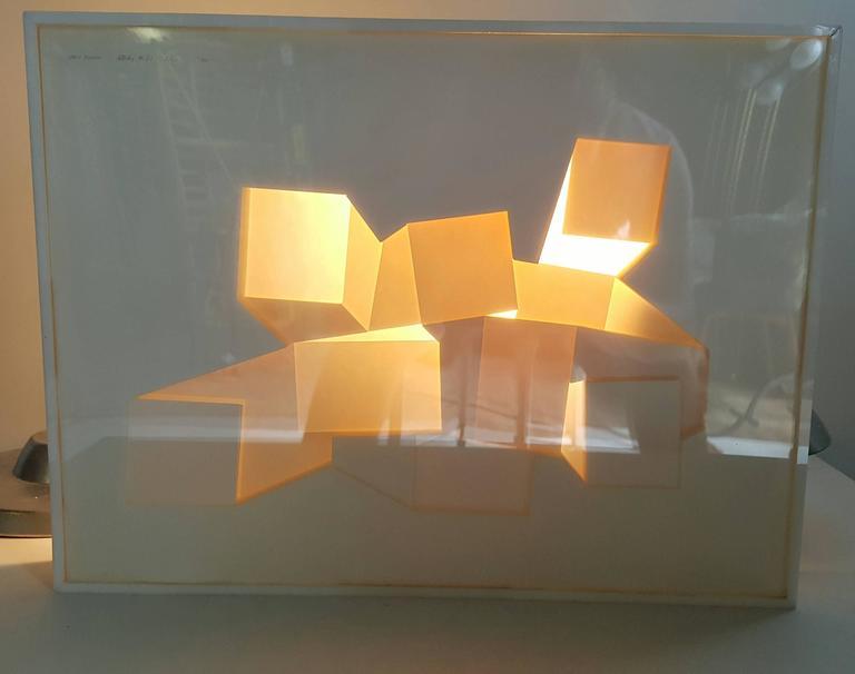 Three Dimensional Acrylic Table Sculpture Pop Modernist