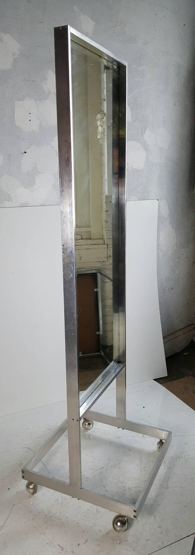 Modernist aluminum standing floor mirror cheval milo for Floor mirrors for sale