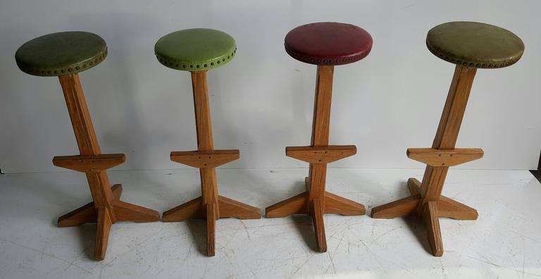 Set Of Four Quot Ranch Oak Quot Bar Counter Stools For Sale At