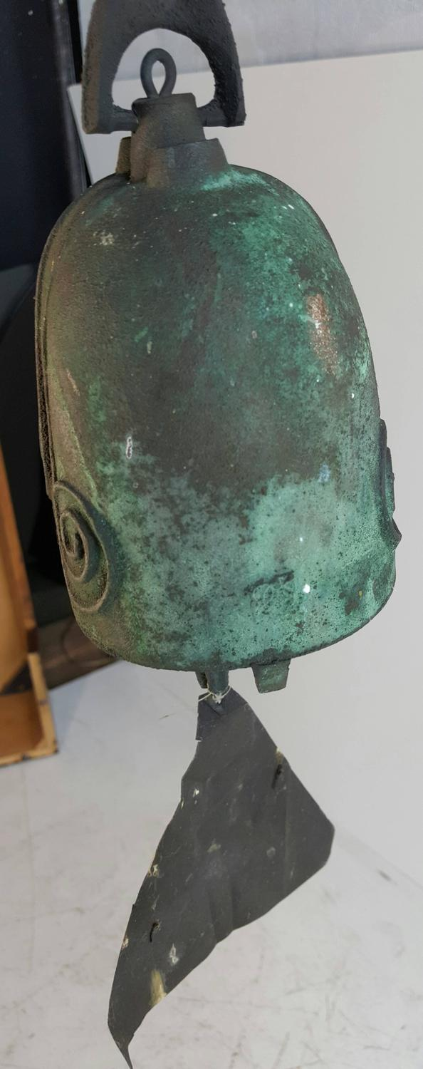 Early Paolo Soleri Bronze Wind Chime Bell 1970 Brutalist