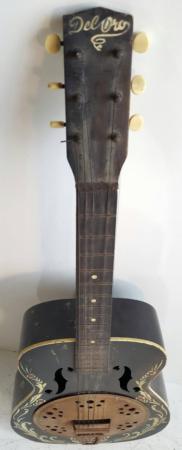 1930 folk art kay del oro faux resonator guitar for sale at 1stdibs. Black Bedroom Furniture Sets. Home Design Ideas