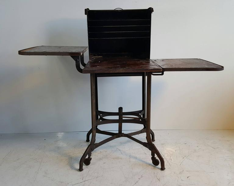 Industrial Typewriter Table/Stand, Desk Manufactured By Toledo, Circa 1910 2