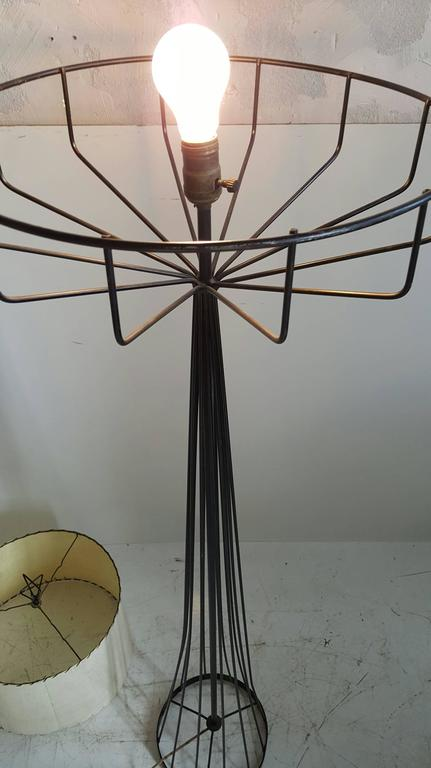20th Century Tony Paul Floor Lamp from the Wire Series, Mid-Century Modern For Sale