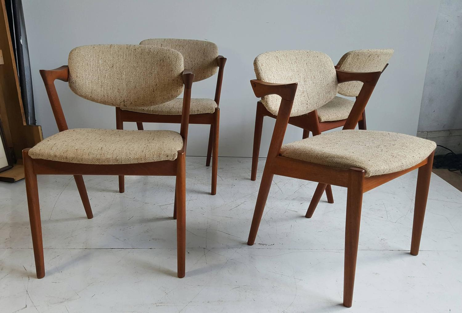 Set Of Four Kai Kristiansen Model 42 Dining Chairs Made