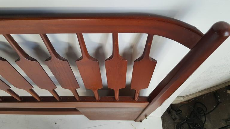 American Mid-Century Modern King Bed and Headboard, Kipp Stewart, Drexel Declaration For Sale