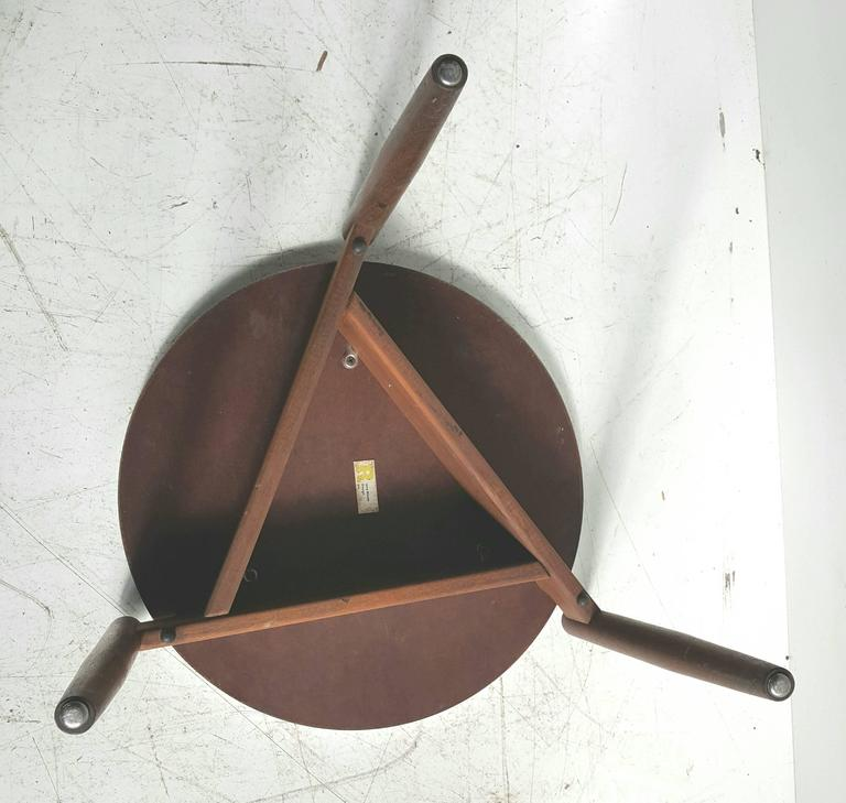 Modernist Side Table, Walnut and Laminate, Designed by Jens Risom 7