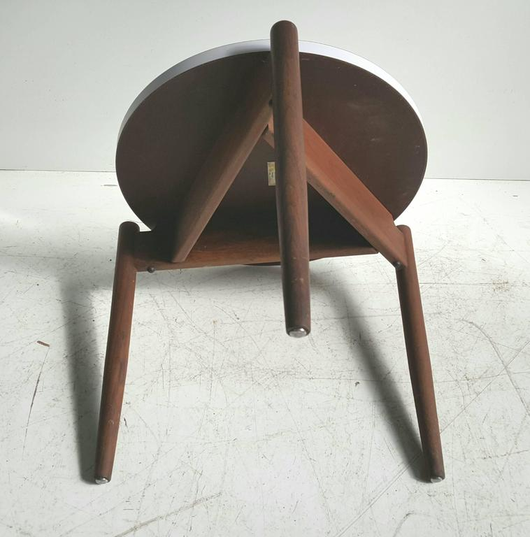 Modernist Side Table, Walnut and Laminate, Designed by Jens Risom 5