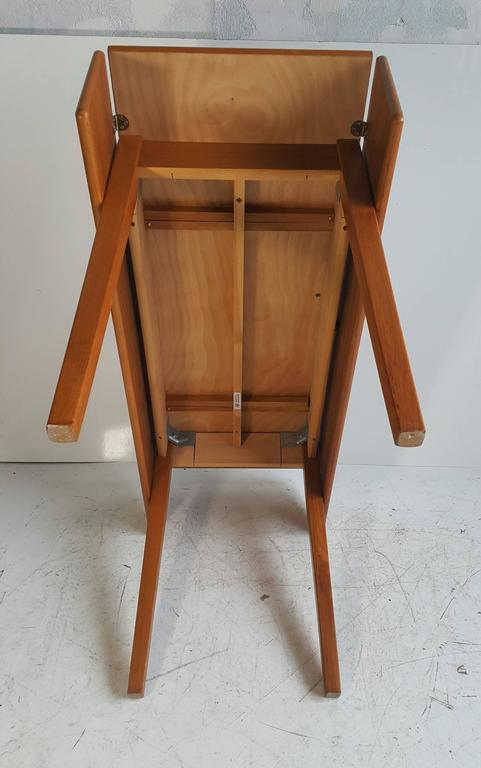 Handsome Teak Drop-Leaf Dining or Breakfast Table, ABJ Made in Denmark 8