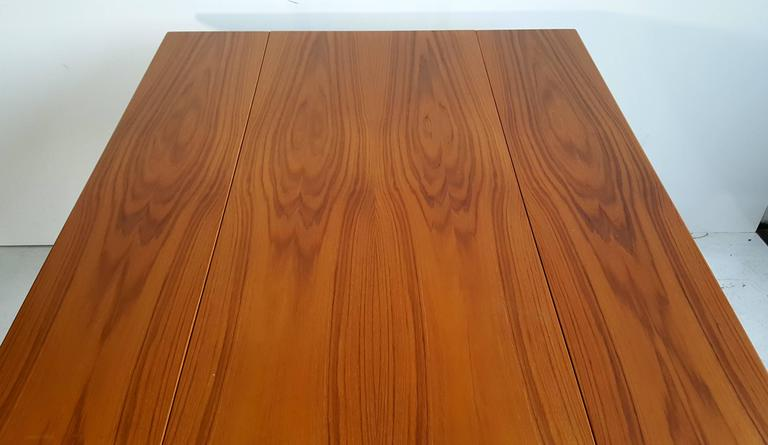 Handsome Teak Drop-Leaf Dining or Breakfast Table, ABJ Made in Denmark 1