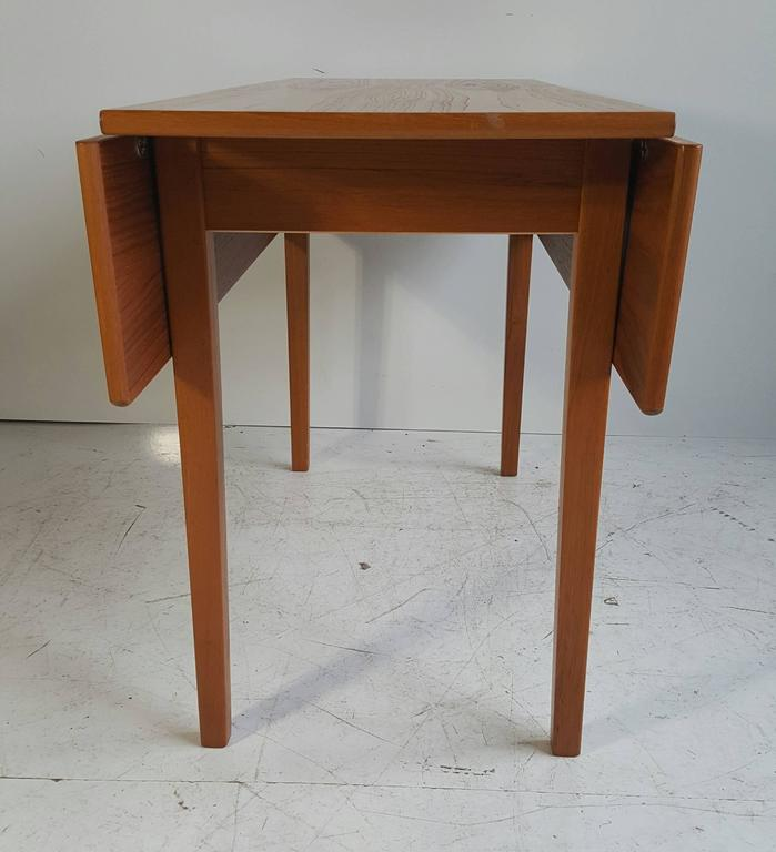 20th Century Handsome Teak Drop-Leaf Dining or Breakfast Table, ABJ Made in Denmark