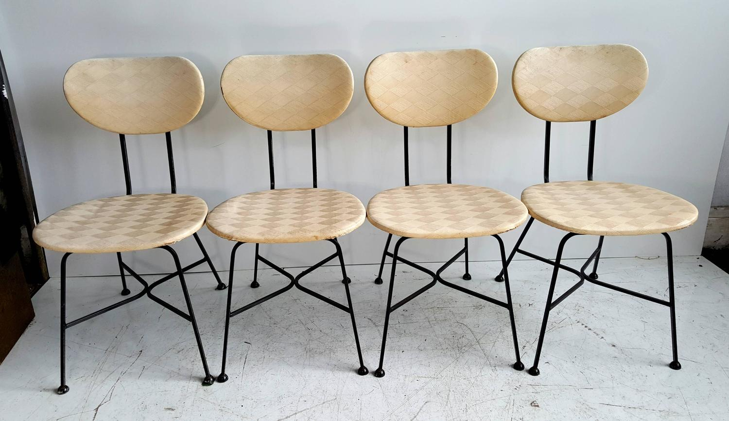 Modernist Wrought Iron And Laminate Dinette Set After Salterini For Sale At