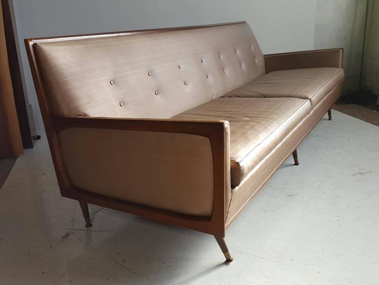 Naugahyde Classic Mid-Century Modern Sofa After Paul McCobb For Sale