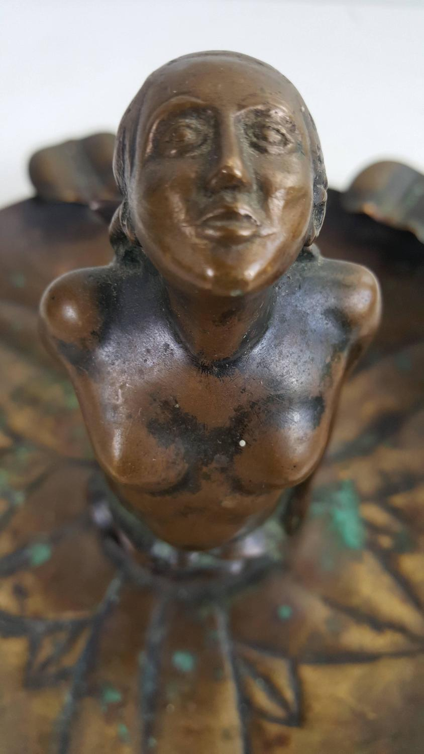 Art Nouveau Bronze Mermaid Ash Receptical For Sale At 1stdibs