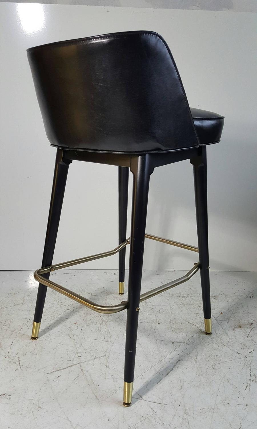Set Of Four Classic 1960s Bar Counter Stools By Shelby Williams At 1stdibs