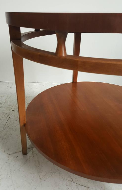 "Modernist Walnut and Rosewood Lamp Table 'Tuxedo"" by Lane 5"
