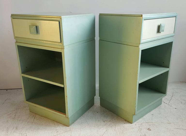 Lacquered Classic Mid-Century Modern Night Stands/Tables by Kittinger For Sale