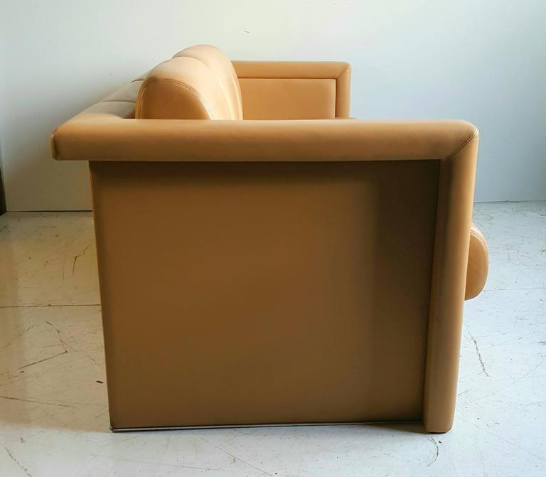 Italian Leather Sofa Edmonton: Modernist Italian Leather Sofa By Knoll At 1stdibs