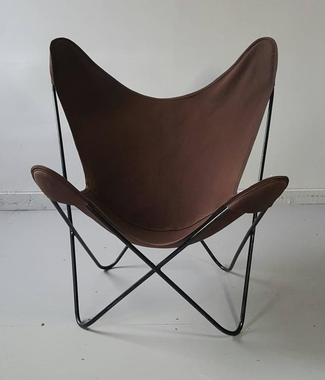 classic modernist hardoy butterfly chair sling knoll at 1stdibs. Black Bedroom Furniture Sets. Home Design Ideas