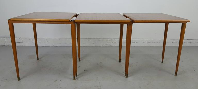 Superbe Danish Stackable Tables Manner Of Jens Quistgaard For Nissen. Classic  Modernist, Pencil Taper Legs