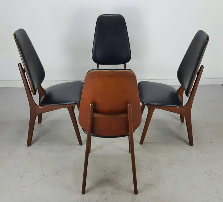 Set Of Four Kofoed Larsen High Back Dining Chairs Denmark For Sale At 1stdibs